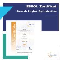 ESEOLZertifikat EuropeanSearchEngine Optimization Licence