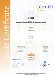 Fit for Homeoffice Zertifikat