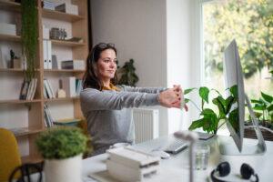 Frau im Home-Office