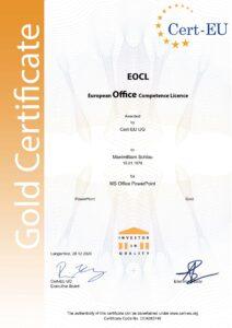 "Zertifikat ""Office Onlinekurs"""